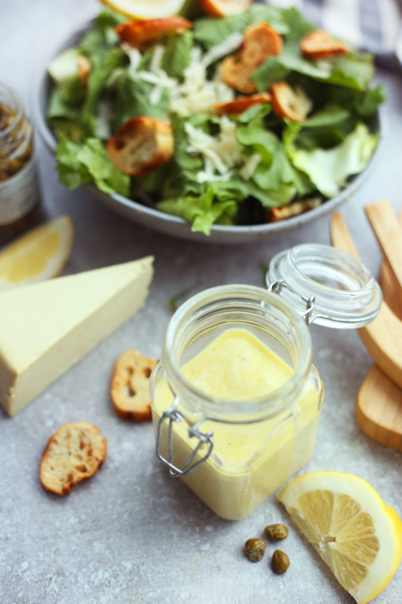Homemade Caesar dressing