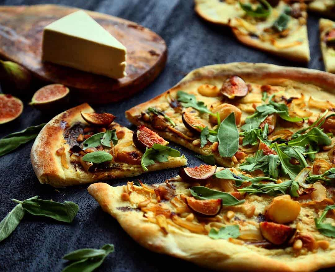 Nuts For Cheese Fig Pizza with Brie