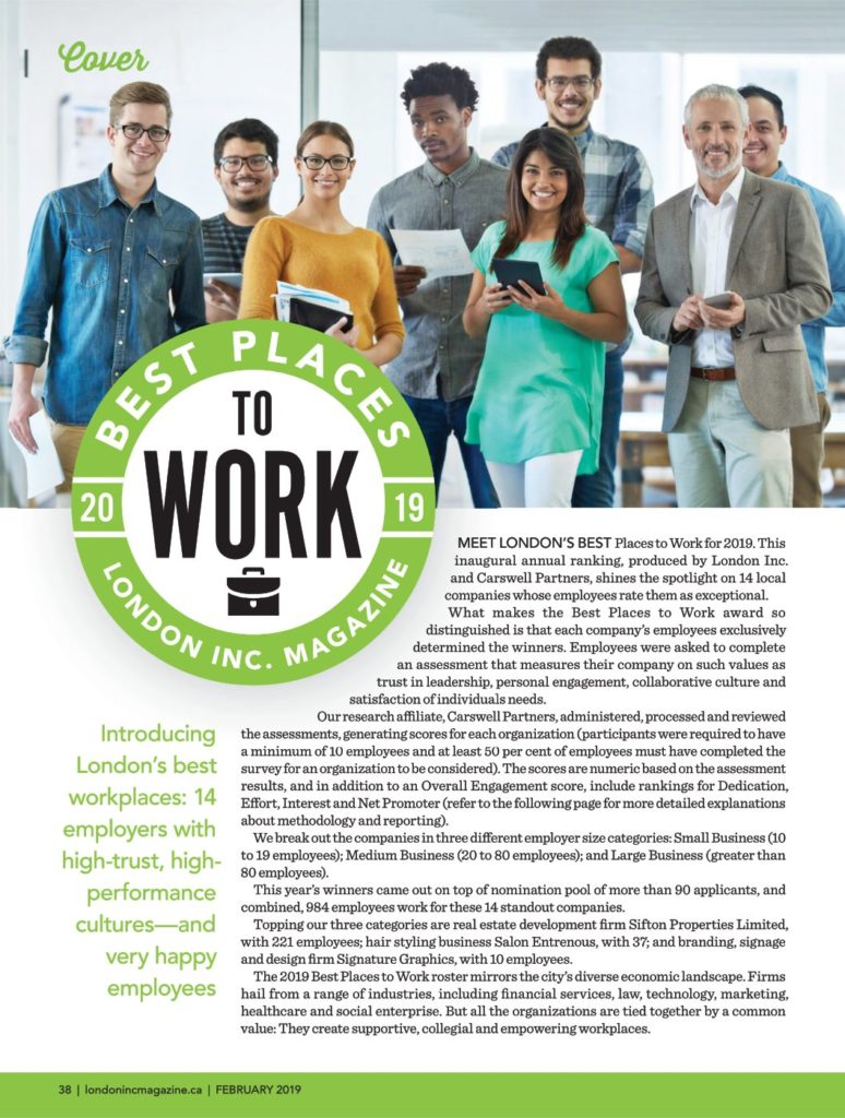 London Inc Magazine Best Places To Work 2019
