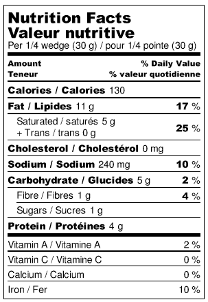 Nuts For Cheese Red Rind Nutrition Facts